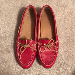 Red Sperry Top-Siders